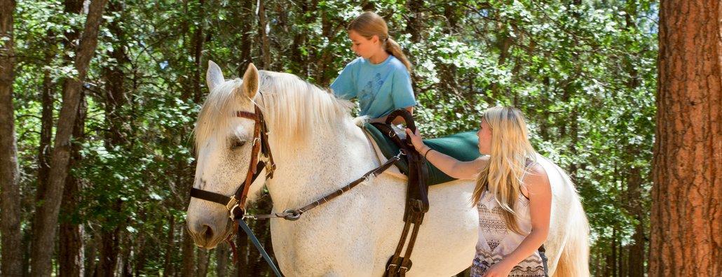 KC - riding alongside counselor
