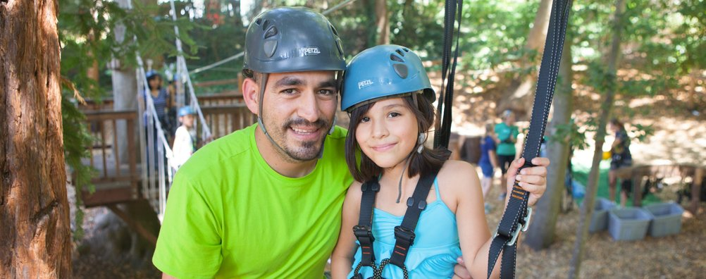 HFC Father daughter ropes course