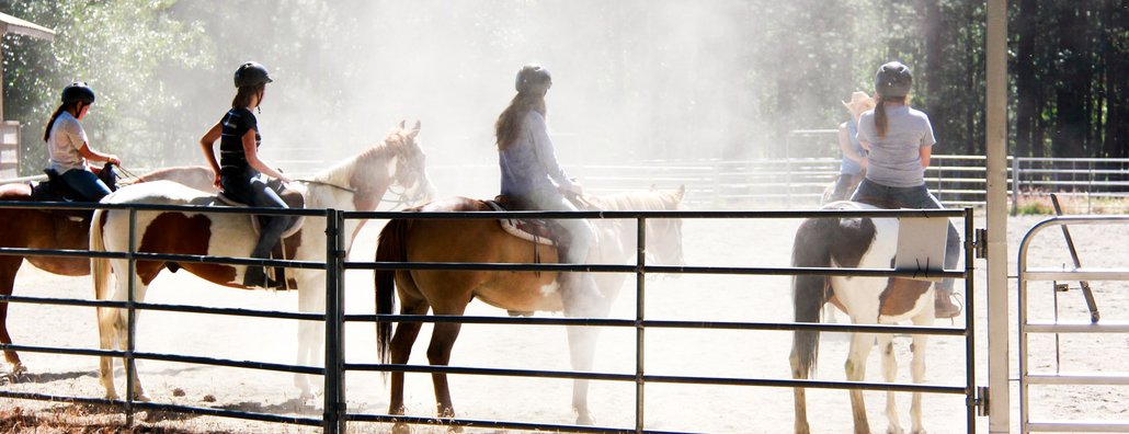 Ranch 17 - four horse riders