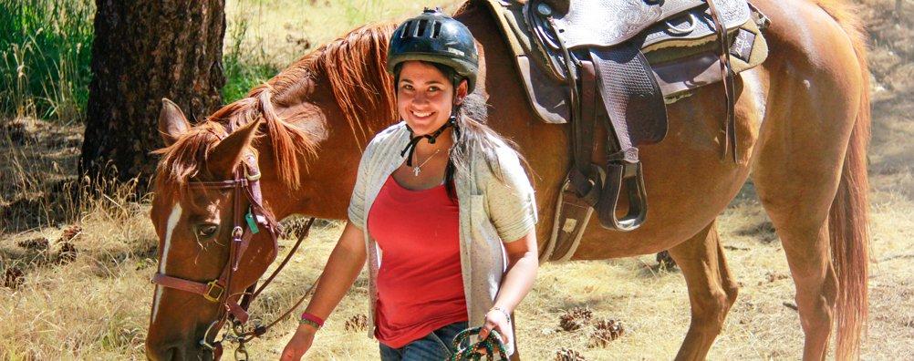 Advanced Rider - walk horse smile