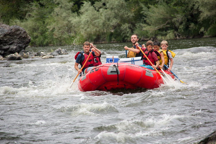 Kidder Creek Guys Rafting