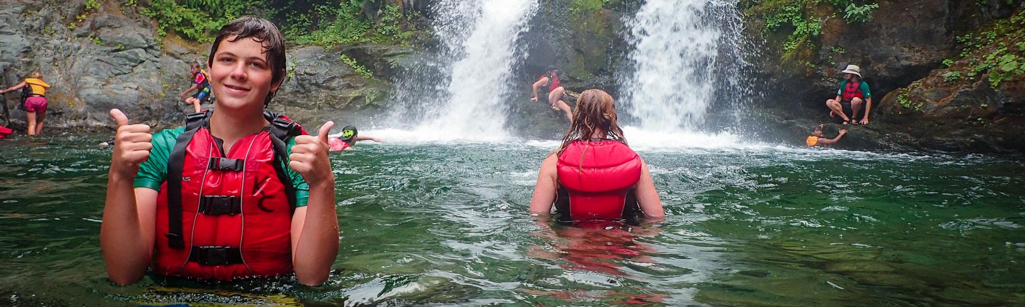Waterfall Thumbs Up
