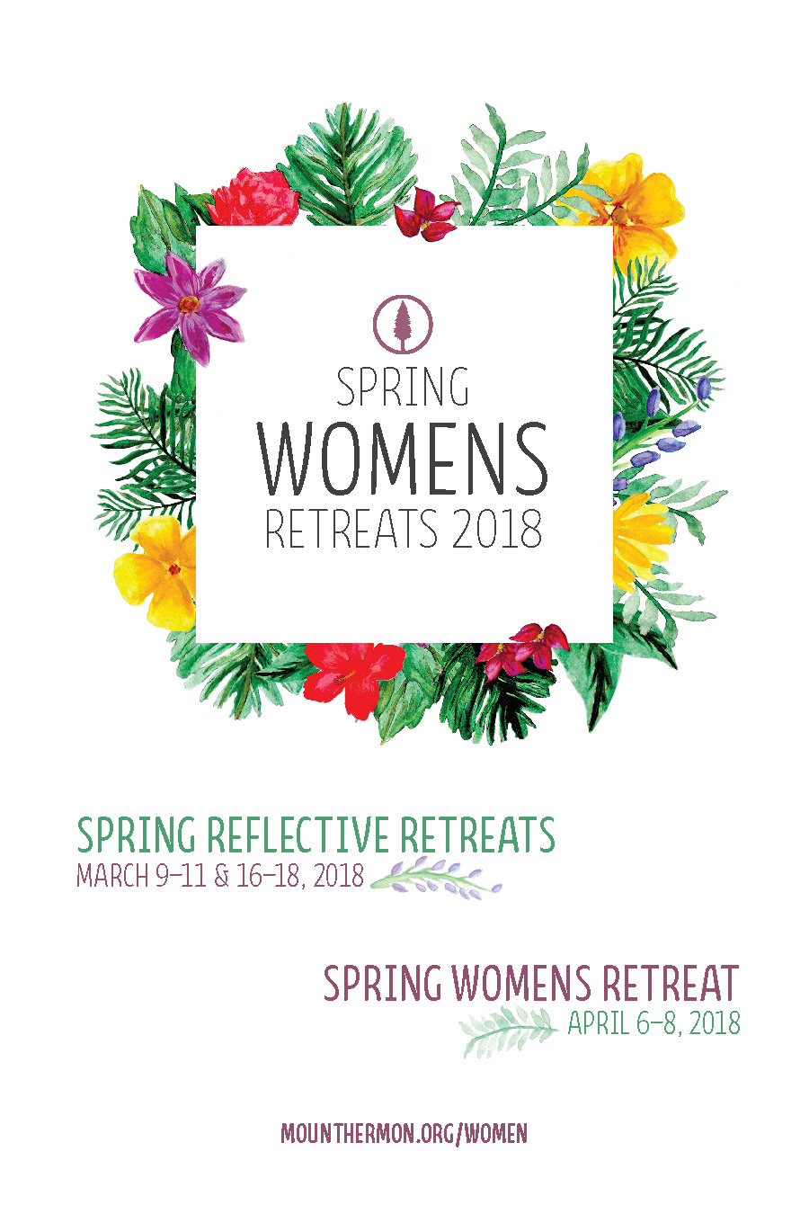Spring 2018 Women's Retreats Poster