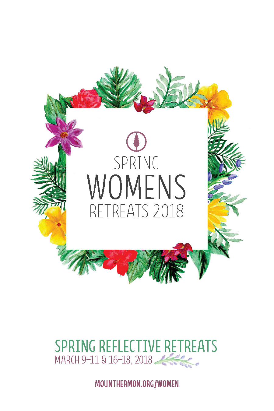 Spring 2018 Women's Reflective Retreat Flyer