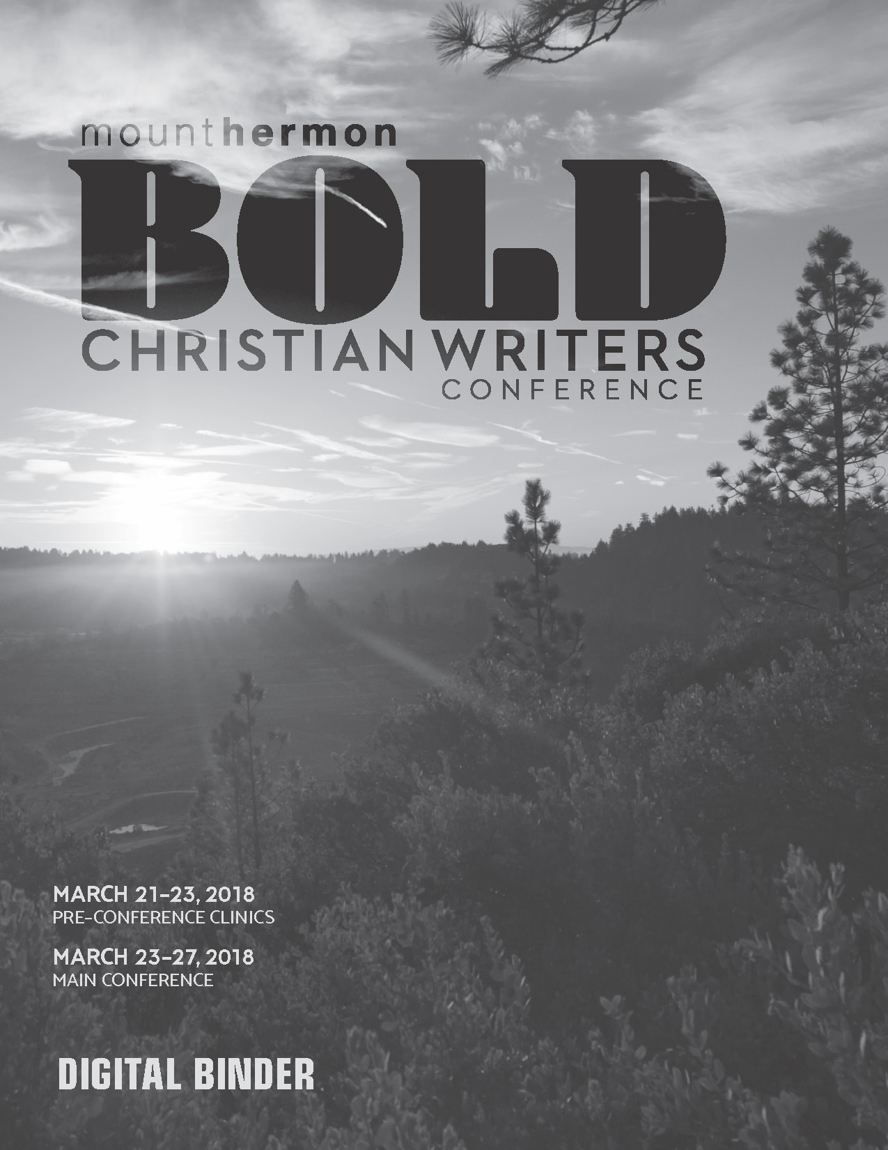 2018 Christian Writers Conference Black & White