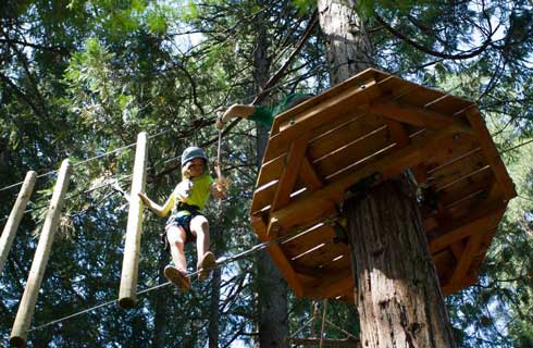 Adventure ropes course