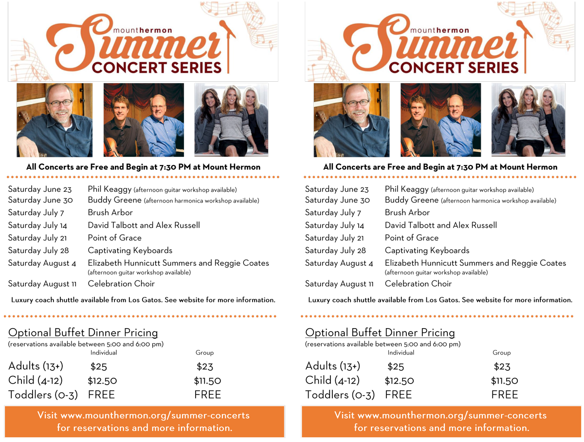Summer Concert Series Bulletin Insert