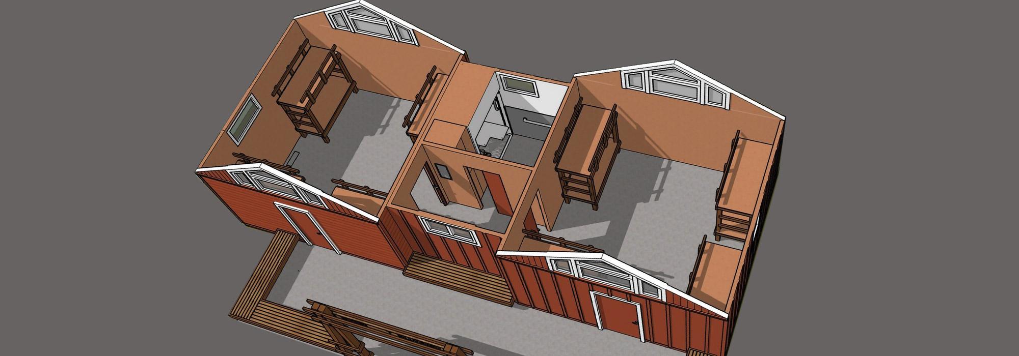 Cabin Remodel Interior Render