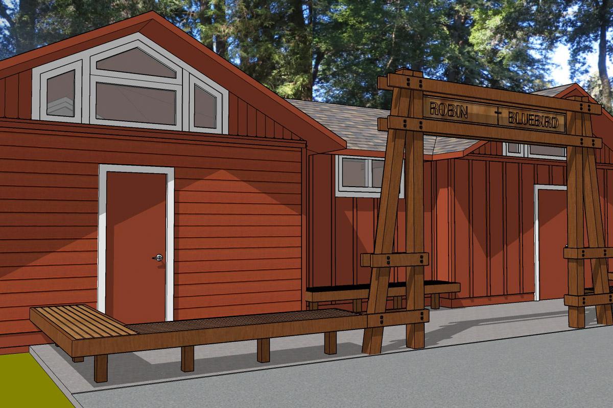 Cabin Remodel Exterior Render
